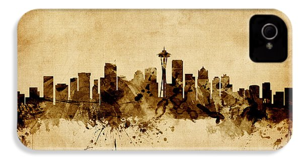 Seattle Washington Skyline IPhone 4 / 4s Case by Michael Tompsett