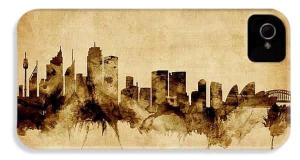 Sydney Australia Skyline IPhone 4 Case by Michael Tompsett