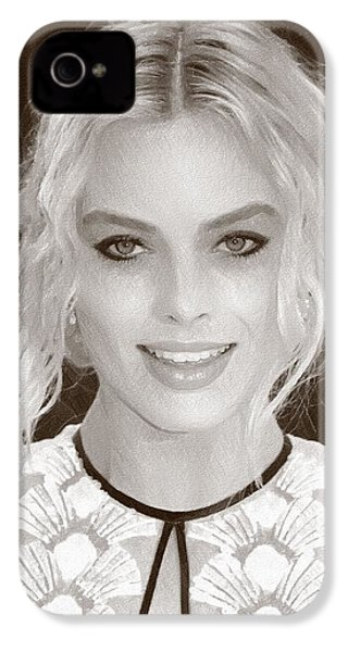 Actress Margot Robbie IPhone 4 / 4s Case by Best Actors