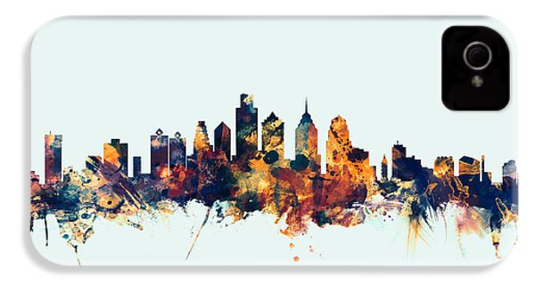 Philadelphia Pennsylvania Skyline IPhone 4 / 4s Case by Michael Tompsett