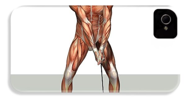 Male Muscles, Artwork IPhone 4 / 4s Case by Friedrich Saurer