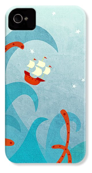 A Bad Day For Sailors IPhone 4 Case by Nic Squirrell