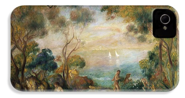 A Garden In Sorrento IPhone 4 Case by Pierre Auguste Renoir