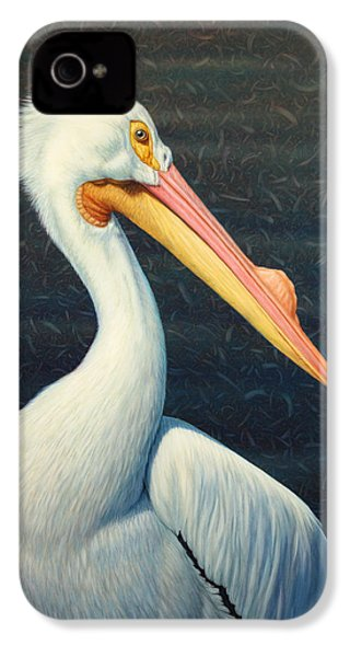 A Great White American Pelican IPhone 4 / 4s Case by James W Johnson