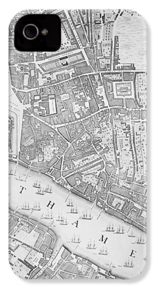 A Map Of The Tower Of London IPhone 4 / 4s Case by John Rocque
