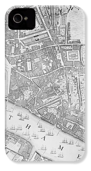 A Map Of The Tower Of London IPhone 4 Case by John Rocque