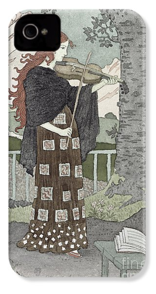 A Musician IPhone 4 Case by Eugene Grasset