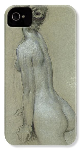 A Naiad In The Lament For Icarus IPhone 4 Case by Herbert James Draper
