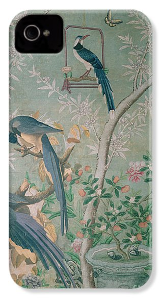A Pair Of Magpie Jays  Vintage Wallpaper IPhone 4 Case