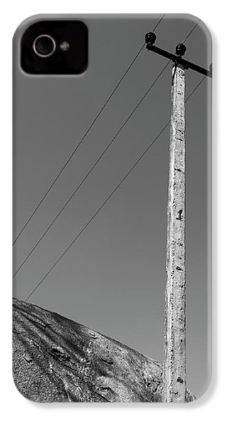 IPhone 4 Case featuring the photograph A Rock And A Pole, Hampi, 2017 by Hitendra SINKAR