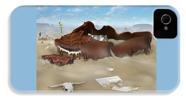A Slow Death In Piano Valley Sq IPhone 4 Case by Mike McGlothlen