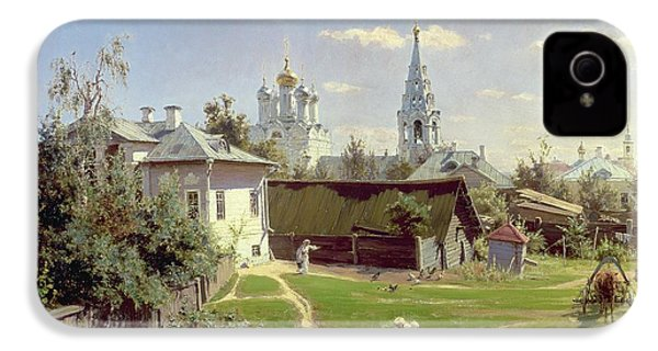 A Small Yard In Moscow IPhone 4 / 4s Case by Vasilij Dmitrievich Polenov