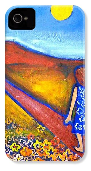 IPhone 4 Case featuring the painting A Sunny Path by Winsome Gunning