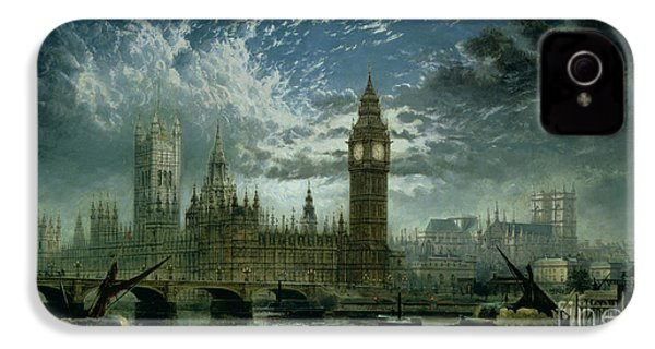 A View Of Westminster Abbey And The Houses Of Parliament IPhone 4 Case by John MacVicar Anderson