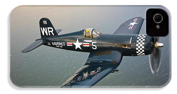 A Vought F4u-5 Corsair In Flight IPhone 4 / 4s Case by Scott Germain