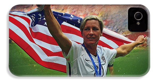Abby Wambach Us Soccer IPhone 4 Case by Semih Yurdabak