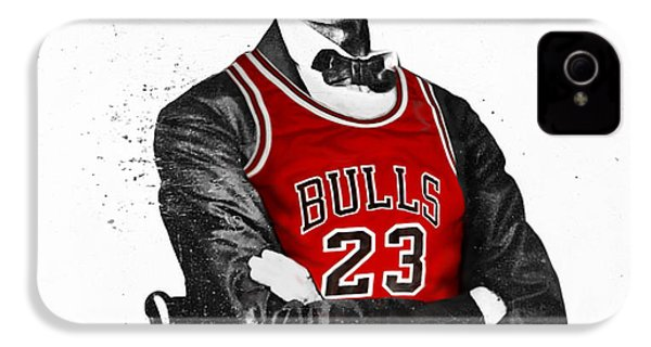 Abe Lincoln In A Bulls Jersey IPhone 4 Case by Roly Orihuela