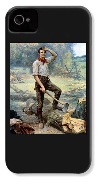 Abe Lincoln The Rail Splitter  IPhone 4 Case