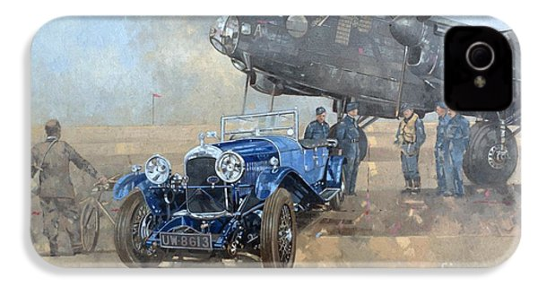 Able Mable And The Blue Lagonda  IPhone 4 Case by Peter Miller