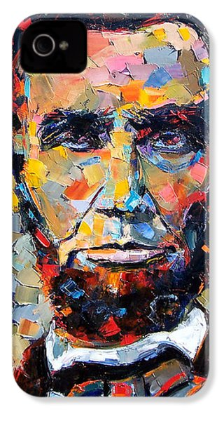 Abraham Lincoln Portrait IPhone 4 Case by Debra Hurd