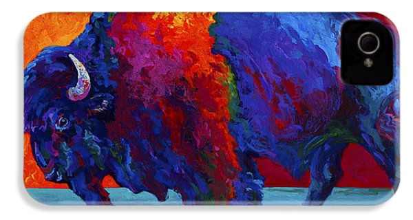 Abstract Bison IPhone 4 Case by Marion Rose