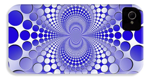 Abstract Blue And White Pattern IPhone 4 Case