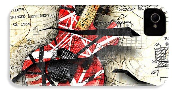 Abstracta 35 Eddie's Guitar IPhone 4 Case by Gary Bodnar