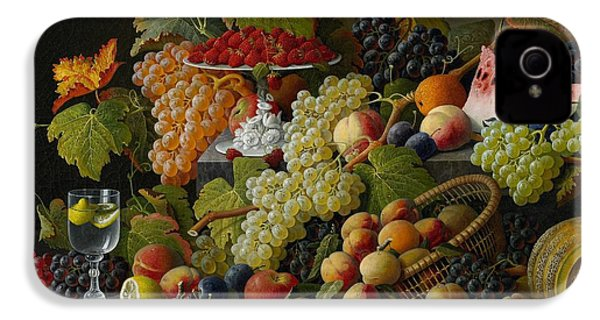 Abundant Fruit IPhone 4 Case by Severin Roesen