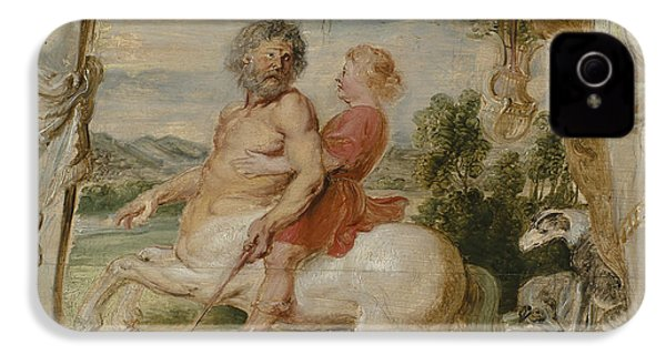 Achilles Educated By The Centaur Chiron IPhone 4 Case by Peter Paul Rubens