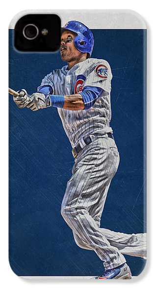 Addison Russell Chicago Cubs Art IPhone 4 Case by Joe Hamilton