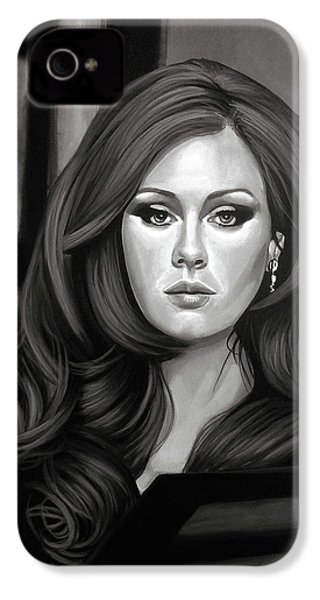 Adele Mixed Media IPhone 4 Case by Paul Meijering