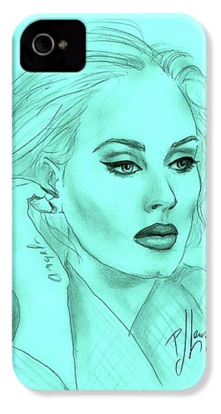 Adele IPhone 4 Case by P J Lewis