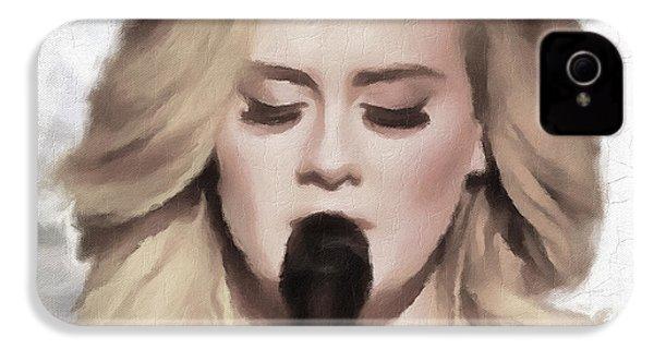 Adele Portrait Hello IPhone 4 / 4s Case by Yury Malkov