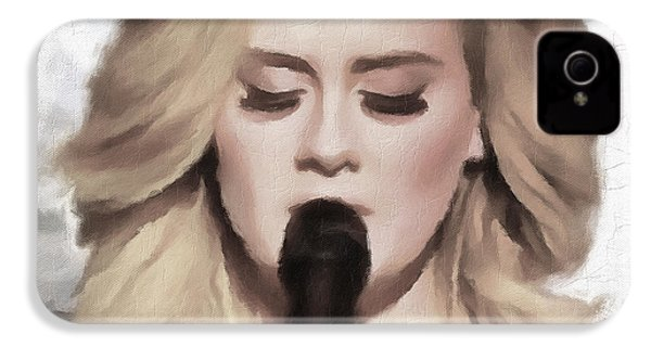 Adele Portrait Hello IPhone 4 Case by Yury Malkov
