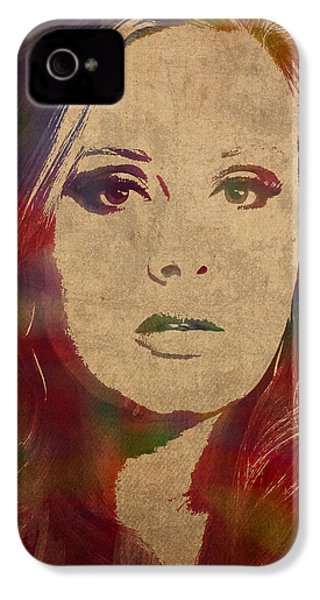 Adele Watercolor Portrait IPhone 4 / 4s Case by Design Turnpike