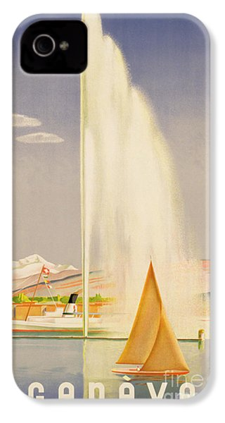 Advertisement For Travel To Geneva IPhone 4 / 4s Case by Fehr