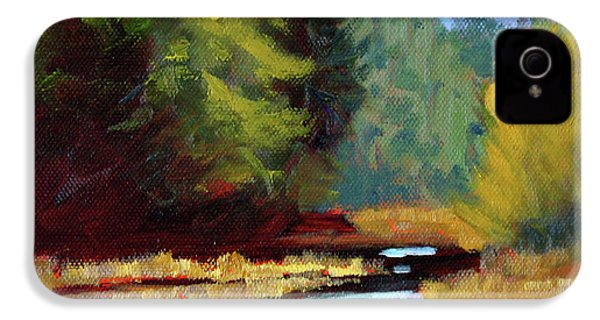 Afternoon On The River IPhone 4 Case by Nancy Merkle