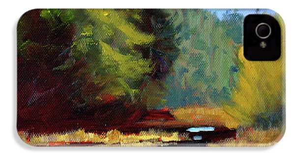 IPhone 4 Case featuring the painting Afternoon On The River by Nancy Merkle