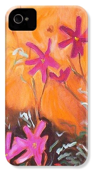 IPhone 4 Case featuring the painting Alba Daisies by Winsome Gunning