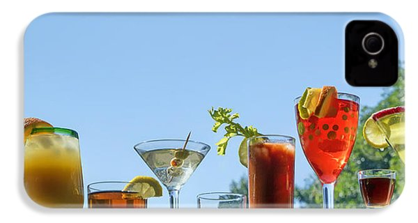 Alcoholic Beverages - Outdoor Bar IPhone 4 Case by Nikolyn McDonald