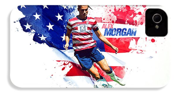 Alex Morgan IPhone 4 Case by Semih Yurdabak