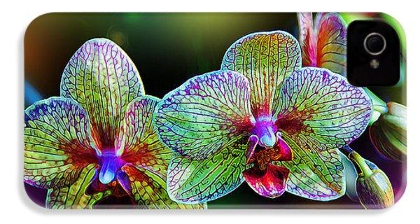 Alien Orchids IPhone 4 / 4s Case by Bill Tiepelman