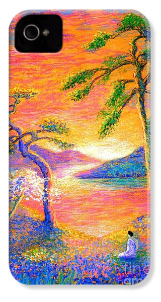 Buddha Meditation, All Things Bright And Beautiful IPhone 4 Case by Jane Small