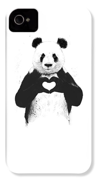 All You Need Is Love IPhone 4 Case by Balazs Solti