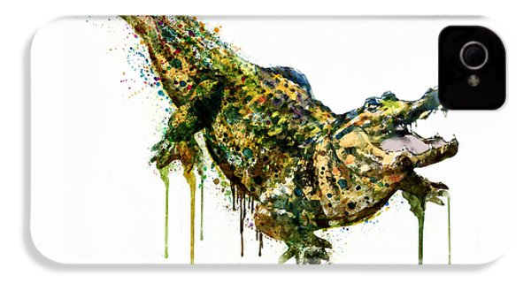 Alligator Watercolor Painting IPhone 4 Case