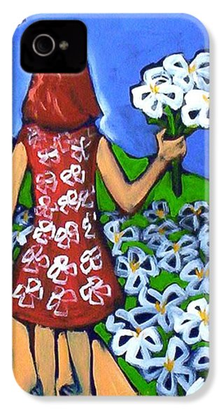 IPhone 4 Case featuring the painting Along The New Path by Winsome Gunning