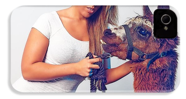 Alpaca Mr. Tex And Breanna IPhone 4 / 4s Case by TC Morgan
