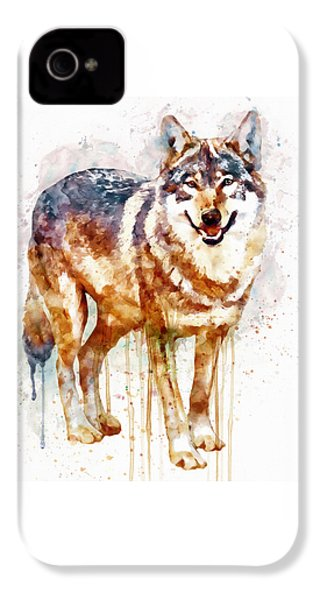 Alpha Wolf IPhone 4 / 4s Case by Marian Voicu