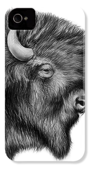 American Bison IPhone 4 Case by Greg Joens