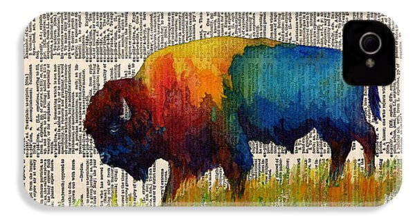 American Buffalo IIi On Vintage Dictionary IPhone 4 / 4s Case by Hailey E Herrera